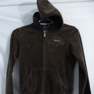 JUICY COUTURE, small, s, brown velour hoodie